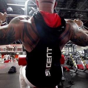 Image 4 - Bodybuilding Stringer Tank Top con cappuccio Mens Palestre di Abbigliamento Per Il Fitness Uomo Senza Maniche Gilet In Cotone Canotte Muscolare Sport della maglia