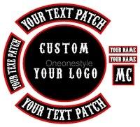 Personalizada su propia Motocicleta Motorista Parches Hierro on/coser Parches Bordados para la Ropa Chaqueta