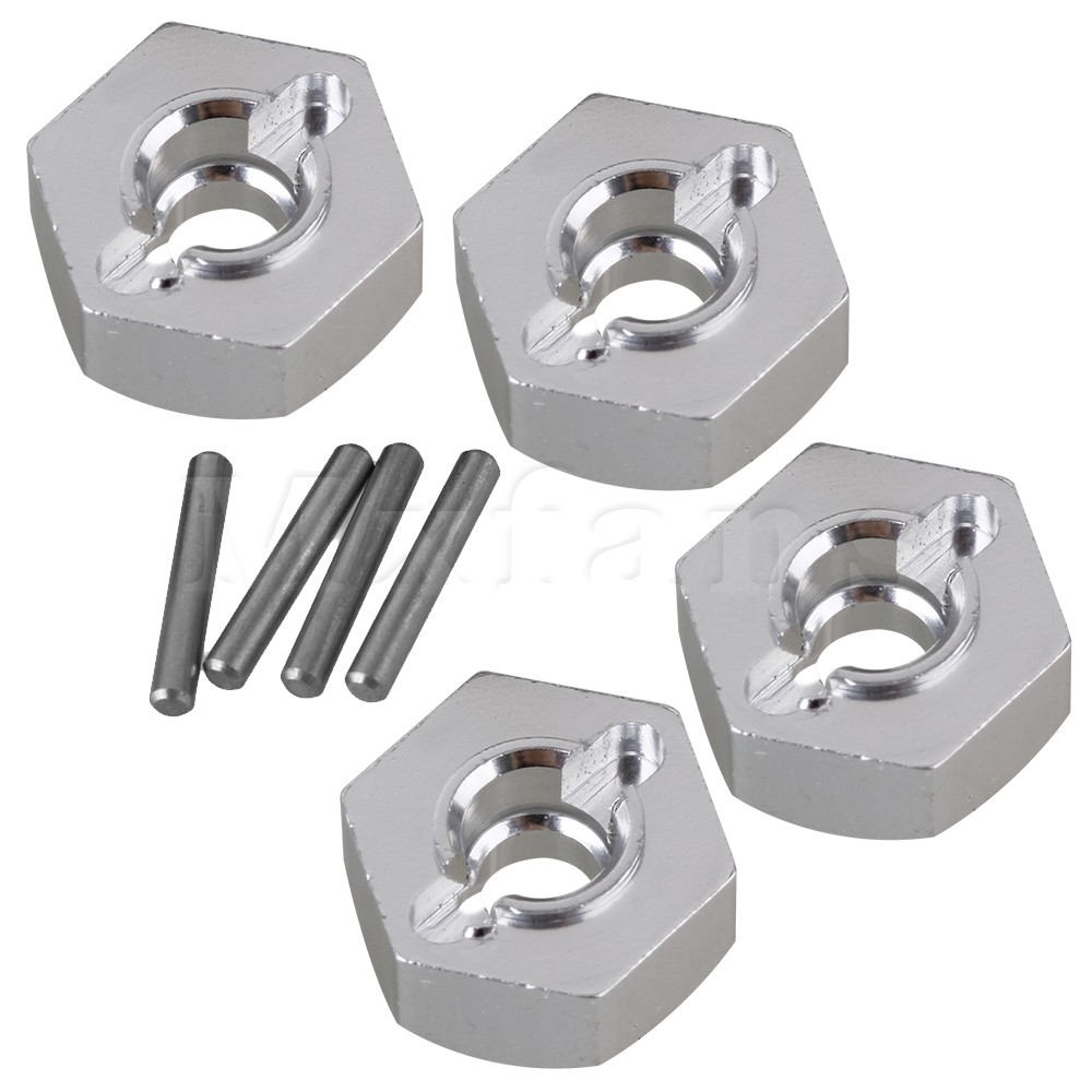 Mxfans 12MM Silver Aluminum AX31015 Wheel Hex & Pin for AXIAL YETI ROCK RACER 90026 RC 1:10 Rock Crawler Upgrade Parts Pack of 4 richfire sf ct1 900lm white vehicle charging flashlight w cree xm l2 u3 black silver 1x16340