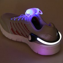 Outdoor Bicycle Bike LED Luminous Safety Night Running Shoe Clips Sport