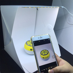 Mini Folding Lightbox Photography Photo Studio Softbox LED Light Soft Box Photo Background Kit Light box for Digital DSLR Camera