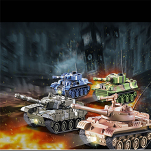 1 Piece New Arrival Tank Remote Control Model RC Military Tanks Interactive Toys for Children And Free Shipping