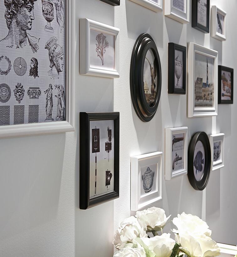 16 unids/set Collage marco de fotos, marcos de la vendimia, Porta ...