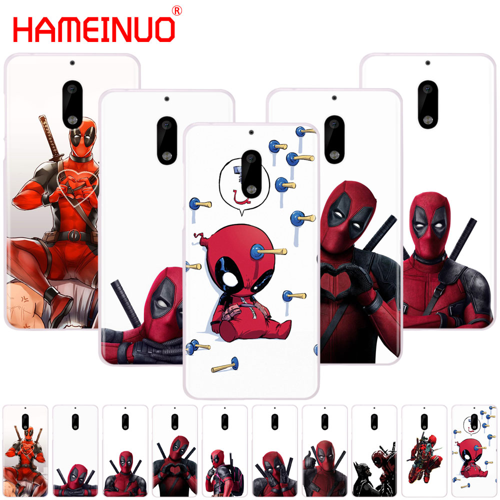 HAMEINUO 3D Super Cool Marvel Deadpool cover phone case for Nokia 9 8 7 6 5 3 Lumia 630 640 640XL 2018