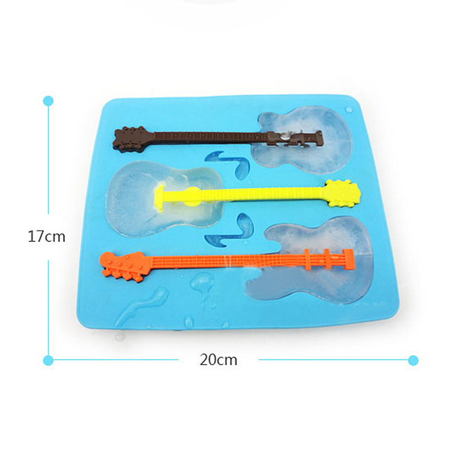 Silicone Ice Guitar Mold colorful kitchen utensils
