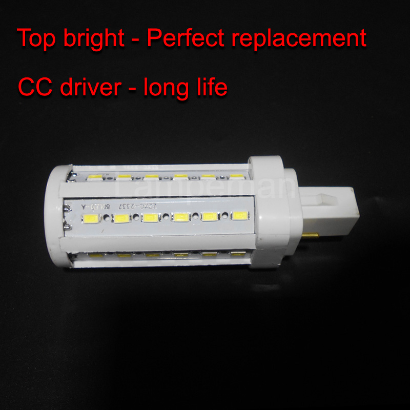 bombillas LED g24 led g24d-2 led Lamp g24d3-1 g24d-1 Real power 5W 6W 7W 9W 10W SMD5730 2 pin AC85-265V 110V 220V ce rohs lexing lx r7s 2 5w 410lm 7000k 12 5730 smd white light project lamp beige silver ac 85 265v