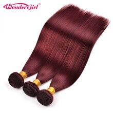 3 Bundles Deal 99J Brazilian Straight Hair Bundles 300g Brazilian Hair Weave Bundles Non Remy Human