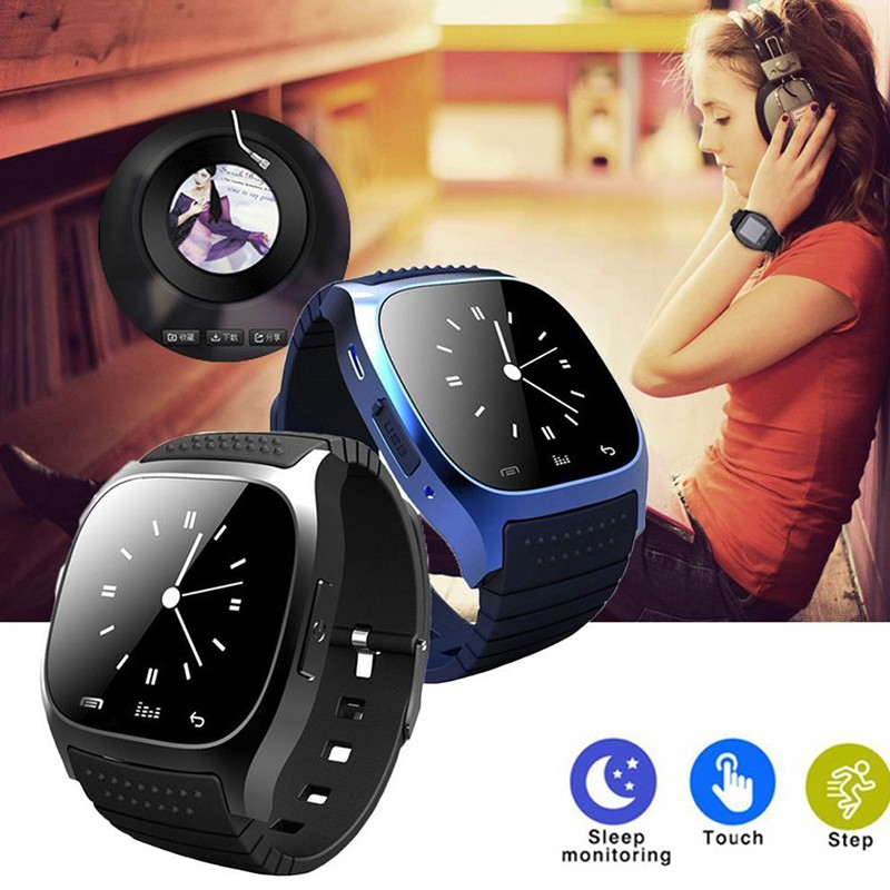 YEINDBOO Bluetooth muñeca Smart Watch M26 impermeable Smartwatch llamada música Pedometer Fitness Tracker para Android Teléfono Inteligente