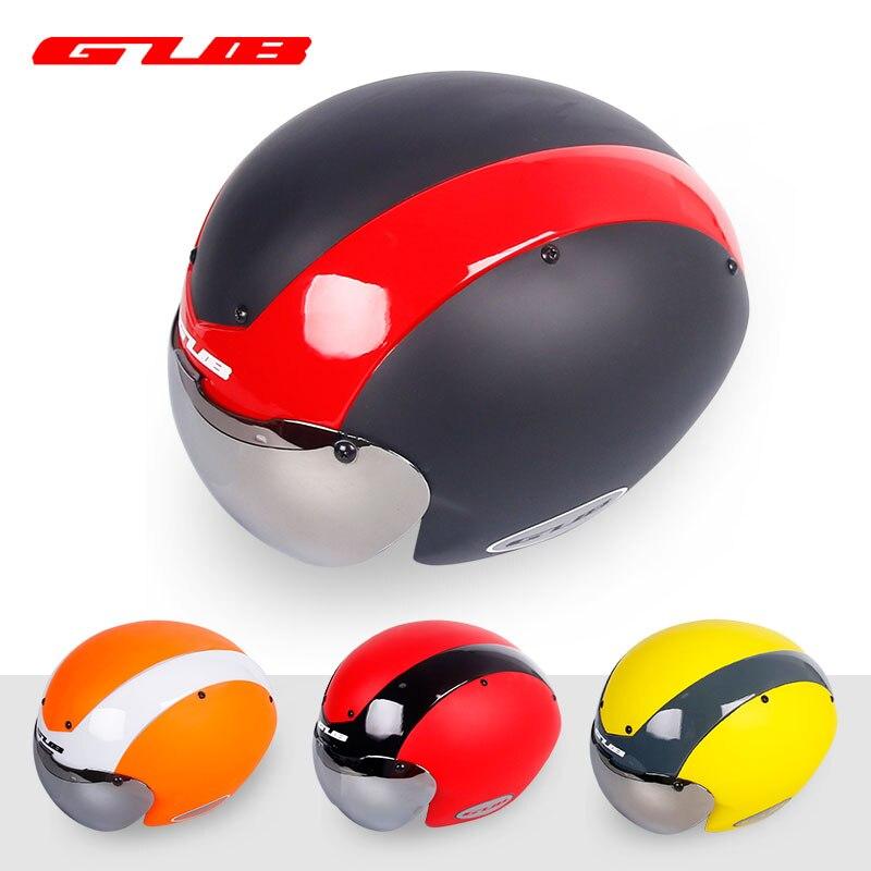 GUB TT Casque De Vélo Moulée Intégralement 13 Air Évents Vélo Bouchon de Sécurité W/Lentille Unisexe Usure Tête soleil Protection