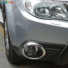 Для Subaru Forester 2009 2010 2012 2011 Chrome глава спереди Foglight крышка лампы отделкой туман Свет Абажур рамки интимные аксессуары 2 шт