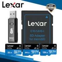Lexar A1 Speicher Karte 512GB 256GB 128GB 64GB 95 MB/S 32GB Micro sd karte Class10 UHS-1 flash-karte Memory Microsd TF/SD Karten Sets