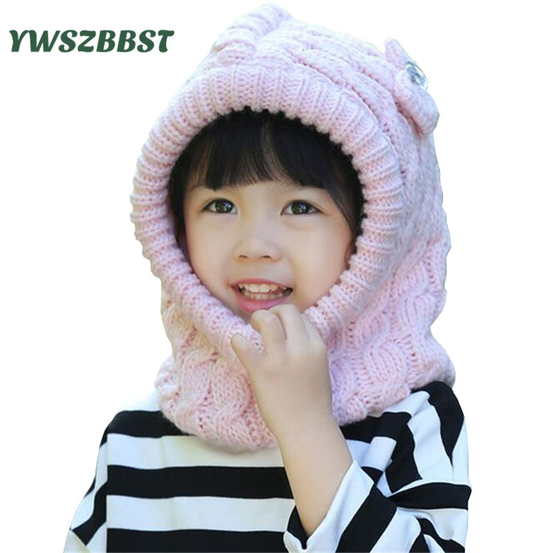 8f5f80182d3 Good Winter Girls Hats Baby Girl Cap with Hooded Scarf Cute Bow Diamond Cap  Kids Hats for Girls Crochet Caps-in Hats   Caps from Mother   Kids on ...
