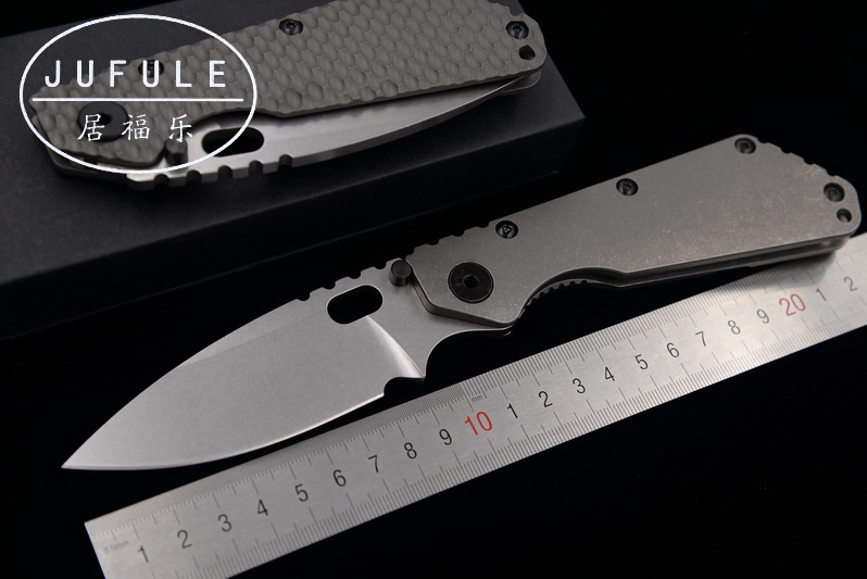 JUFULE SMF carbon fiber / Titanium handle D2 blade Copper washer Folding camp hunt outdoor Tactical multi EDC Tool Kitchen knife jufule doc folding d2 blade titanium g10 bearing flipper tactical kitchen knife outdoor survival camping pocket hunt edc tool