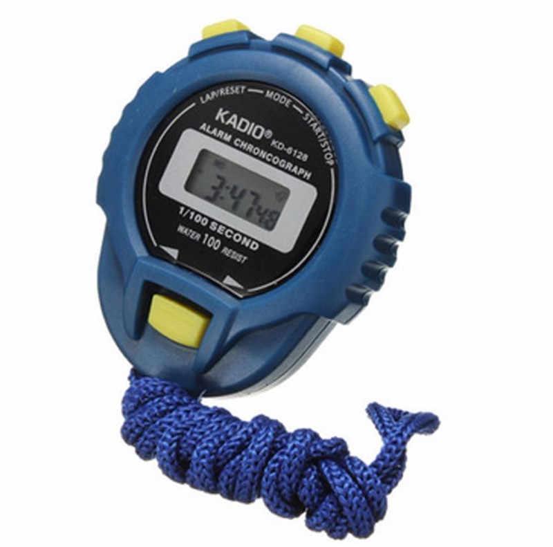 Pendentif LCD chronographe minuterie numérique chronomètre Sport compteur odomètre montre alarme avec chaîne horloge minuterie