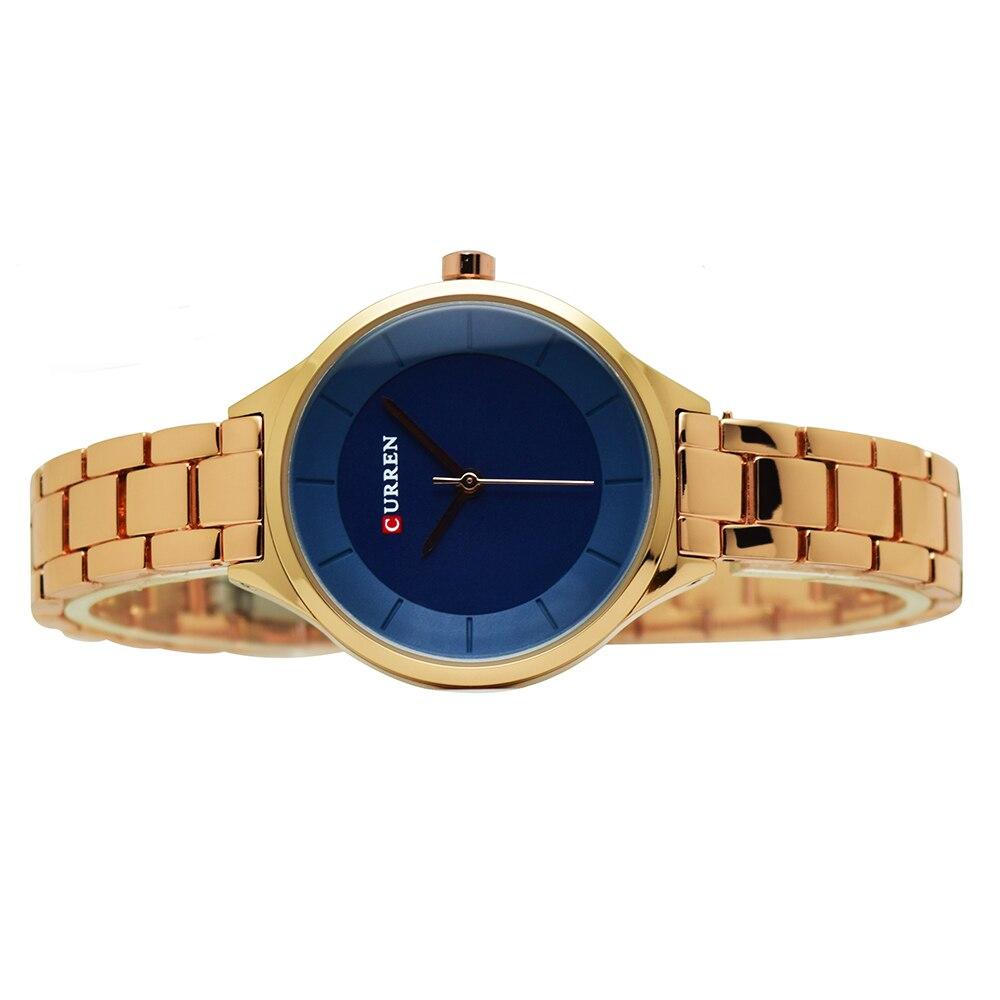 9437cc9415159 CURREN or Rose montre femmes montres en acier inoxydable dames montre pour  femme femmes 2018 luxe couleur or mode Relogio Feminino
