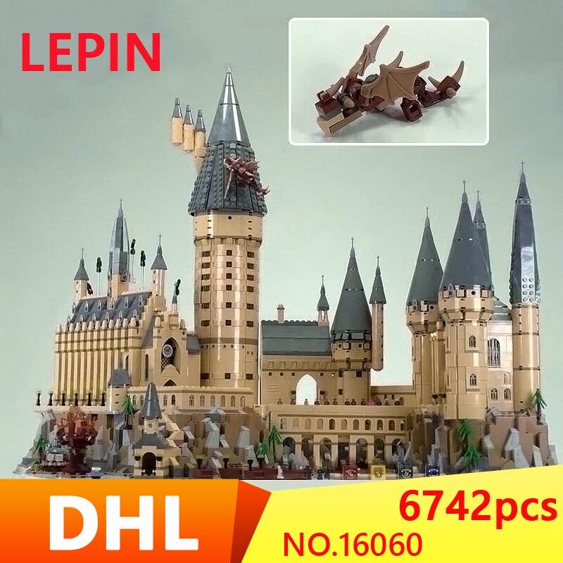 16060 Harry Potter Magique Poudlard Château Compatible Legoing 71043 Blocs de Construction Briques Enfants Jouets Éducatifs BRICOLAGE