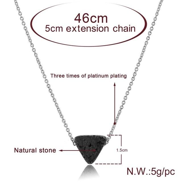 Фото toucheart треугольные лавовые бусины ожерелья и подвески длинные цена