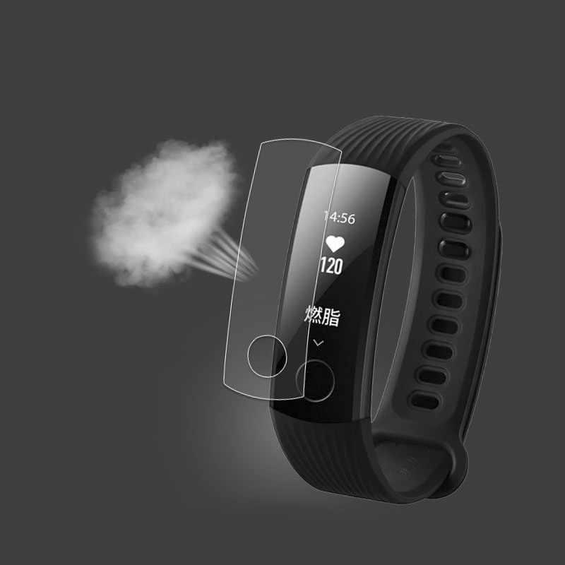 1 יחידות נגד הלם רך TPU Ultra ברור מגן סרט עבור Huawei כבוד להקת 3 נוער חכם שעון Band3 מלא מסך מגן כיסוי