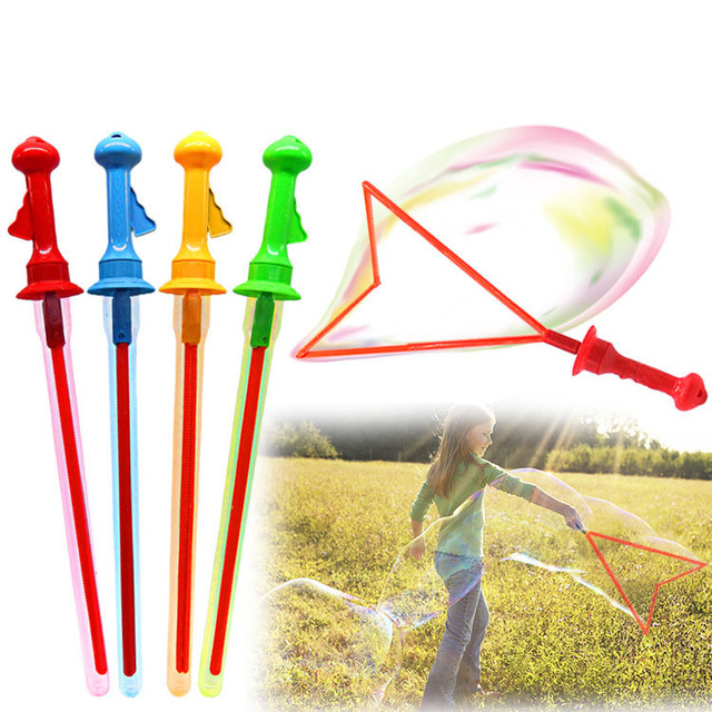 2017 New 6 Pcs 46cm Sword Bubbles Stick With Concentrate Summer Toy Baby Kid  Outdoor Toys