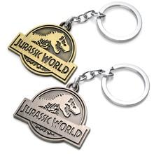 Very Nice Classic Hot Film Jurassic Park Surrounding Exquisite Keychain Action Figures Bronze Dragon Men Key Chain Pendant