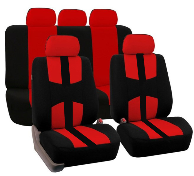2017 Universal Car Seat Covers Only For All Back SUV Black Red Gray Blue Beige Breathable Material Free Shipping In Automobiles