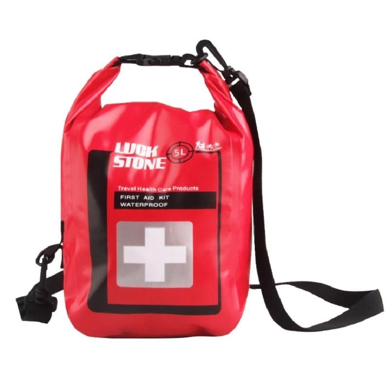 Luckstone Camping Hiking PVC First Aid Kit Dry Bag Drift Bag Waterproof Bag Traveling Rafting Bag Waterproof Camera Case 5L