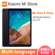 "Xiaomi mi Pad 4 Plus pc tablet 10,"" 8620 mAh Snapdragon 660 Octa Core 1920x1200 13MP+ 5MP Cam 4G Планшеты Android mi Pad 4"