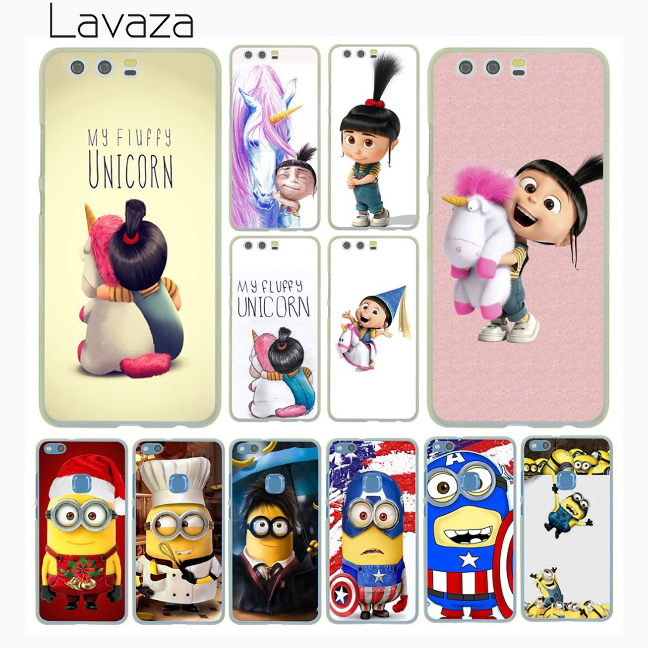 Lavaza Minions Minion My Unicorn Agnes Case for Huawei P20 P10 P9 Plus P8 Lite Mini 2015 2016 2017 P Smart Mate 9 10 Lite Pro ...