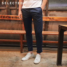 SELECTED Slight stretch slim fit washing leisure long pants C|4182W2522(China)