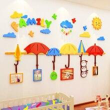 Creative INS Photo frame umbrella DIY childrens room bedroom living TV background wall decoration 3D acrylic sticker