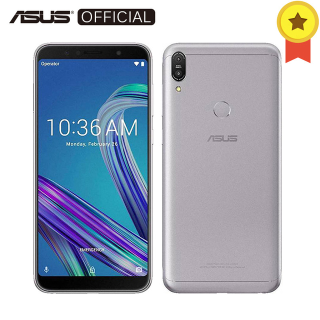 "Asus Zenfone Max Pro (M1) ZB602KL SnapDragon 636 6 ГБ 64 ГБ Android 8,1 6,0 ""18:9 FHD + телефон лицевой ID 5000 мАч версия оты 16 м"