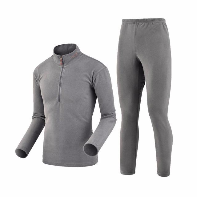 2016 nuevo nuevo de la llegada del invierno casual underwear hombres a prueba de viento térmico suave estupendo caliente espesar polar larga para hombre underwear traje