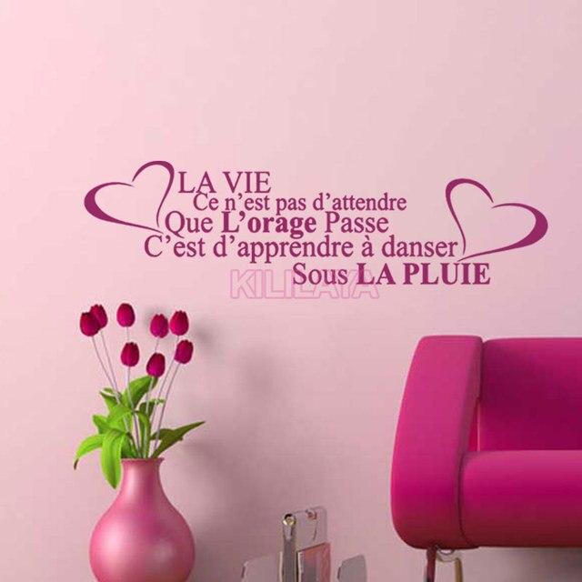 Stickers French Citation de la vie Vinyl Wall Decals Sticker Art ...