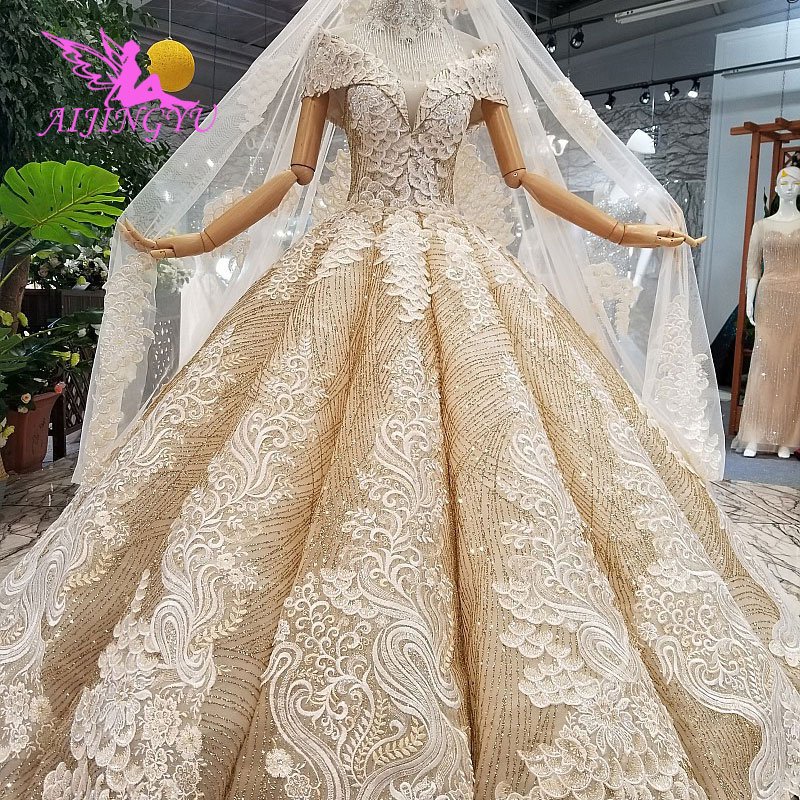 AIJINGYU Wedding Dress Hijab Simple Gowns Irish 2018 Saudi