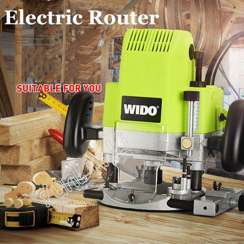Routeur électrique 1850 W tondeuse à bois Machine à sous en bois fraiseuse électrique multi-usage Machine d'ouverture M1R-KA7-12f