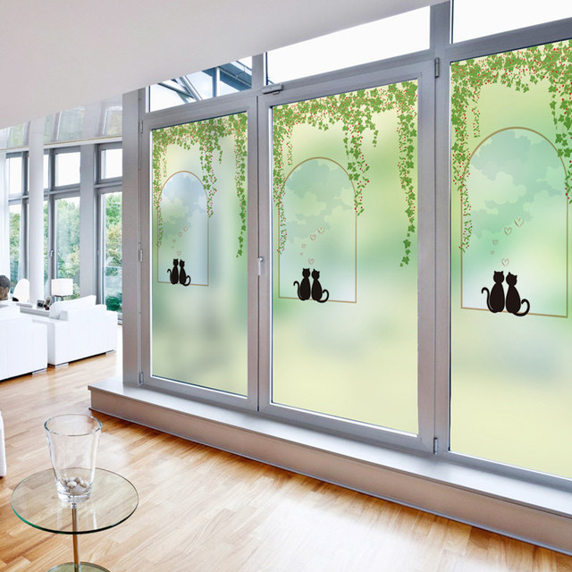 Popular Free Custom made Size Decorative Stained Window Privacy Frosted Static For Glass Stickers PVC Contemporary - Latest frosted interior door Fresh