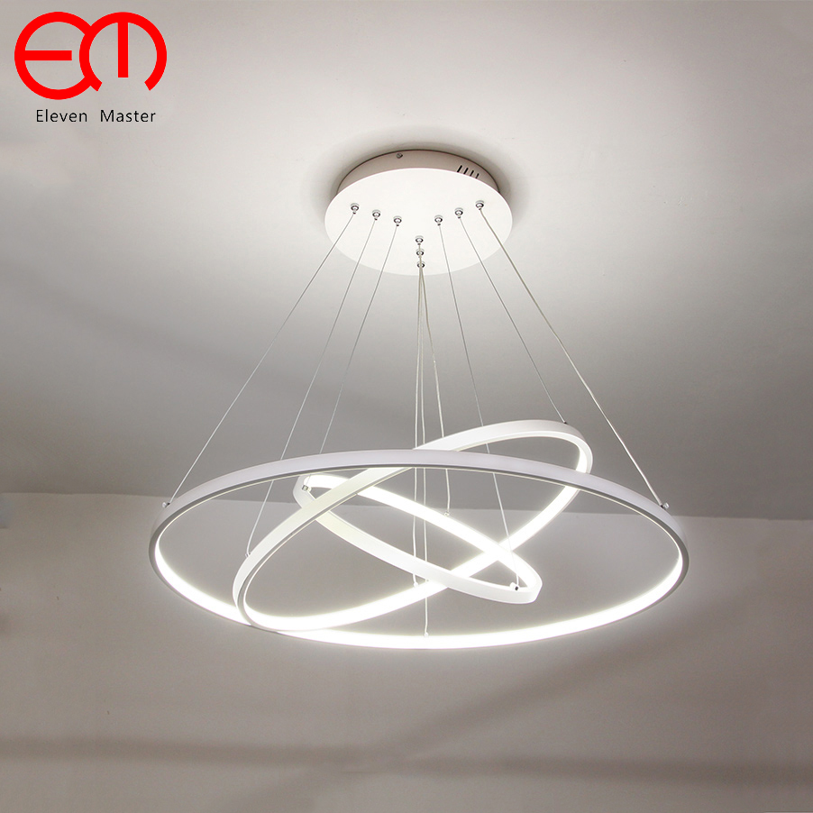 Modern Led Chandelier Circle Rings Pendant Lamp Aluminum Body hanging lamp Ceiling Fixtures for dining room