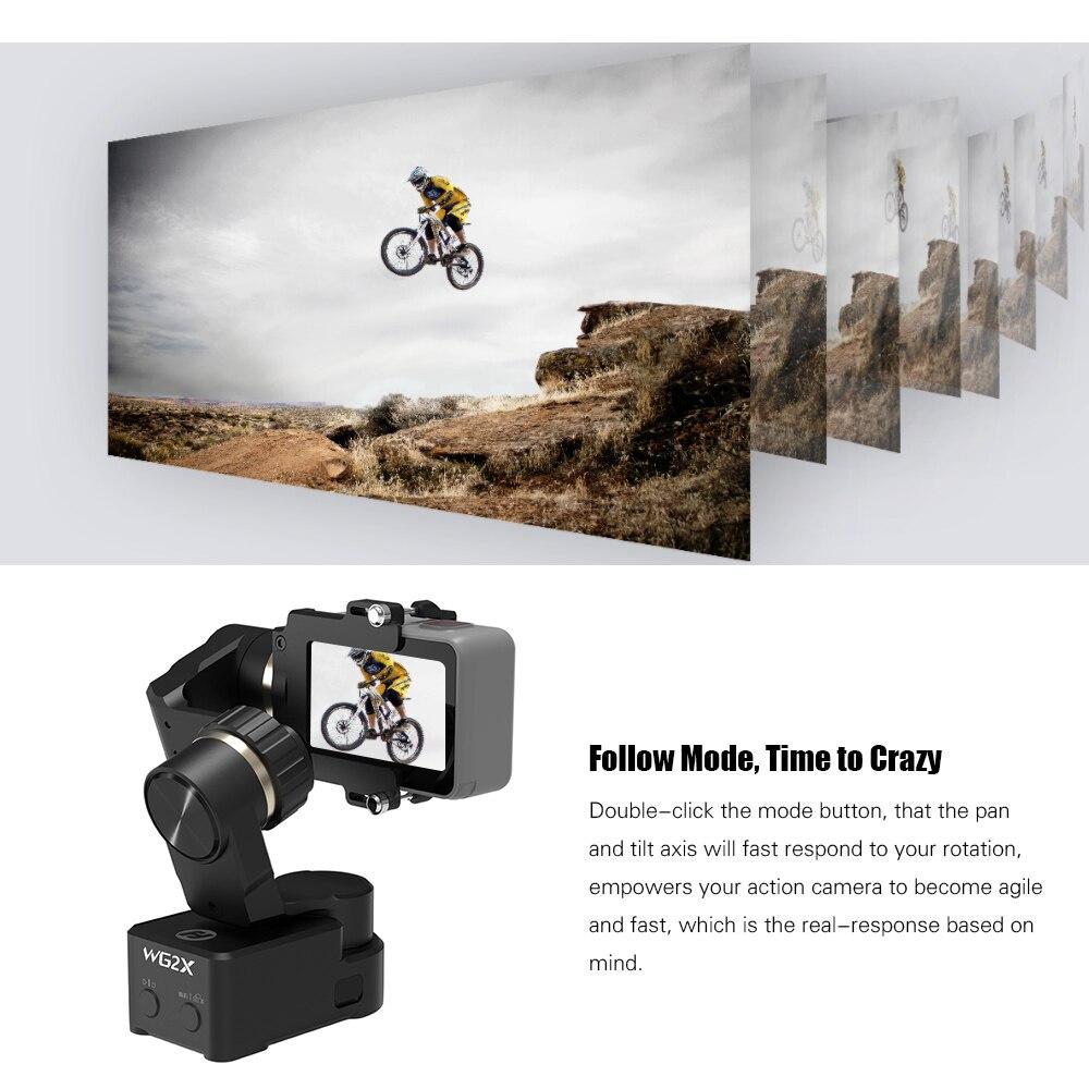FeiyuTech WG2X 3 оси переносная экшн Камера Gimbal Wi-Fi Управление w/360 градусов панорамирование наклон для экшн-Камеры GoPro Hero 7 6 5 4 для Yi 4K