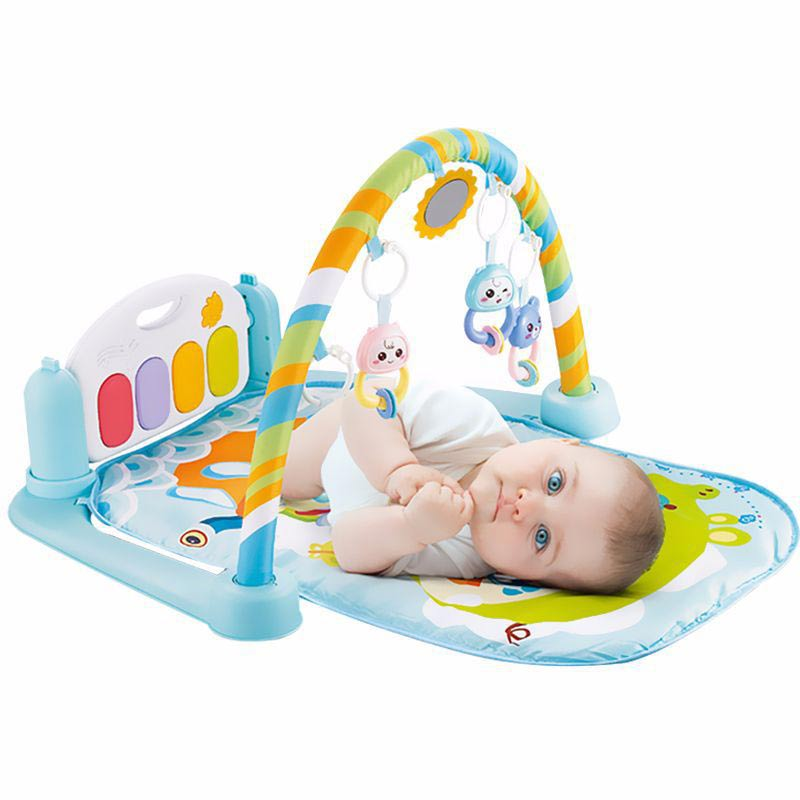 Hot Selling Baby Newborn Gym Mat Carpet Multifunction Piano Music Rattle Playmat Activity Game Educational Toy