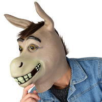 Adult Full Face Horse Donkey Head Mask Latex Halloween Party Cosplay Masks Halloween Party Supplies Animal Donkey Head Mask