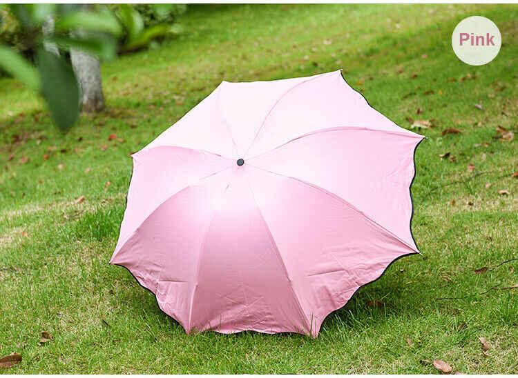 أزياء للطي شمسية صغيرة الشمس المطر مظلة مكافحة الأشعة فوق البنفسجية صامد للريح خفيفة المحمولة السفر النساء