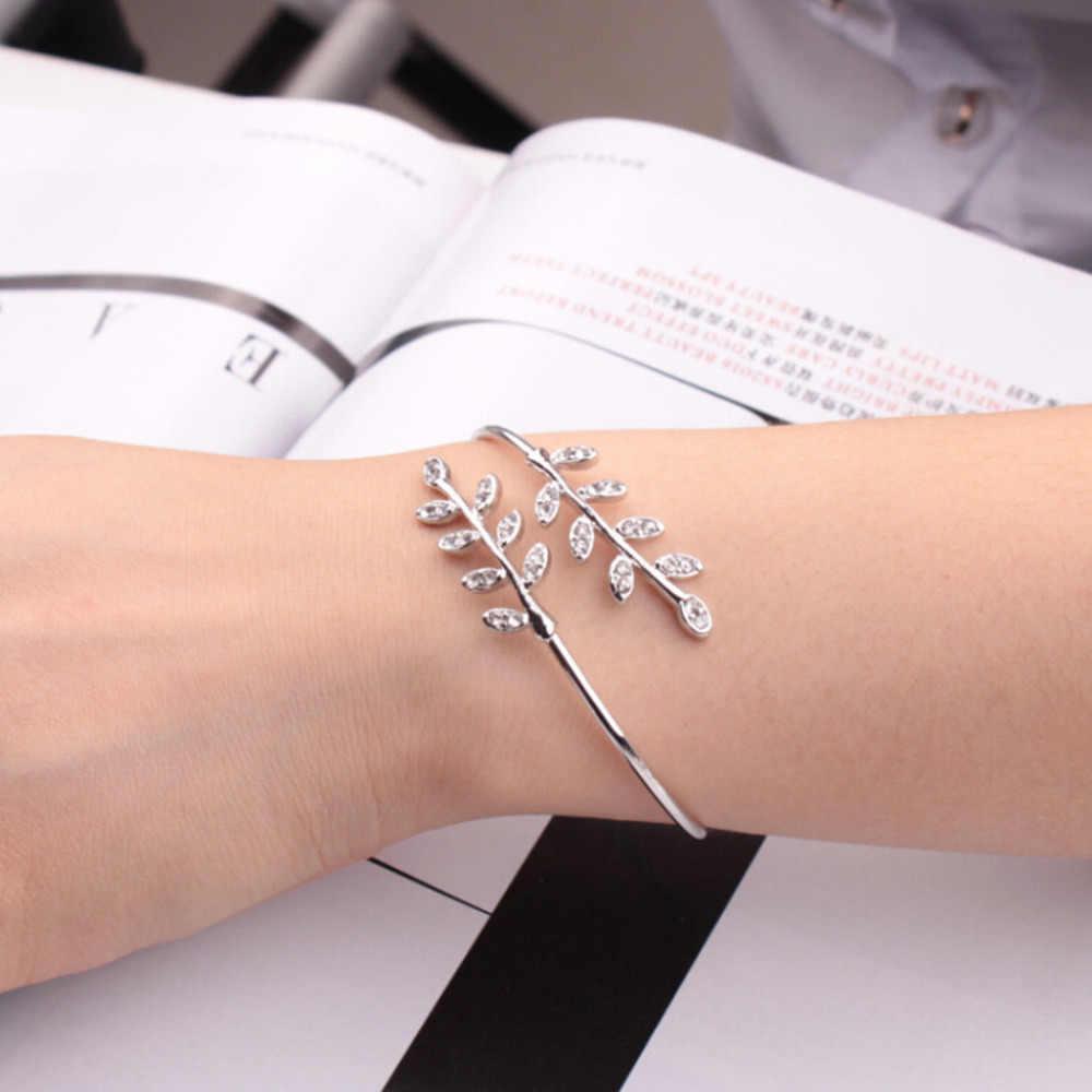 Elegante pulsera salvaje de moda de apertura de moda ajustable pulsera de joyería de señora de alta calidad de lujo elegante plata L0327