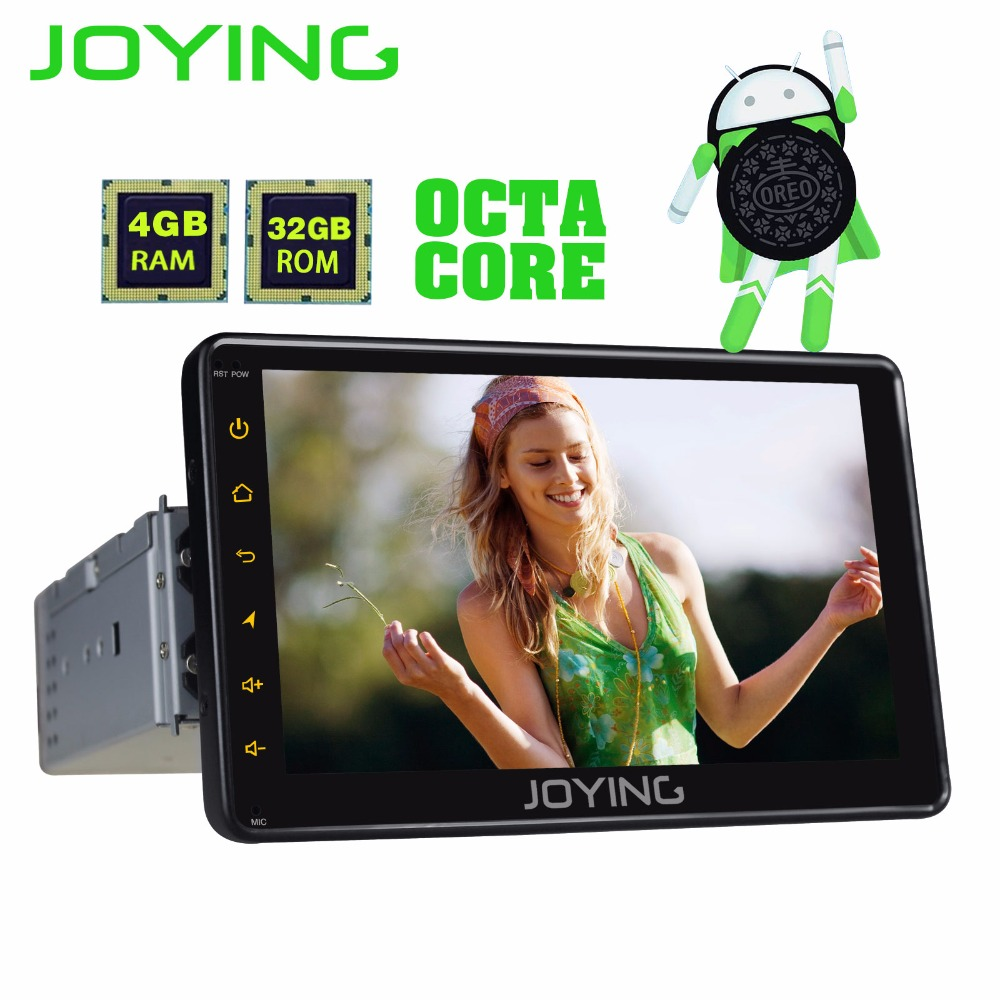 JOYING PX5 4 gb RAM 32 gb ROM 1din 7 ''Android 8.0 voiture radio stéréo GPS audio Octa core HD tête unité carplay Sortie Vidéo Cassette BT
