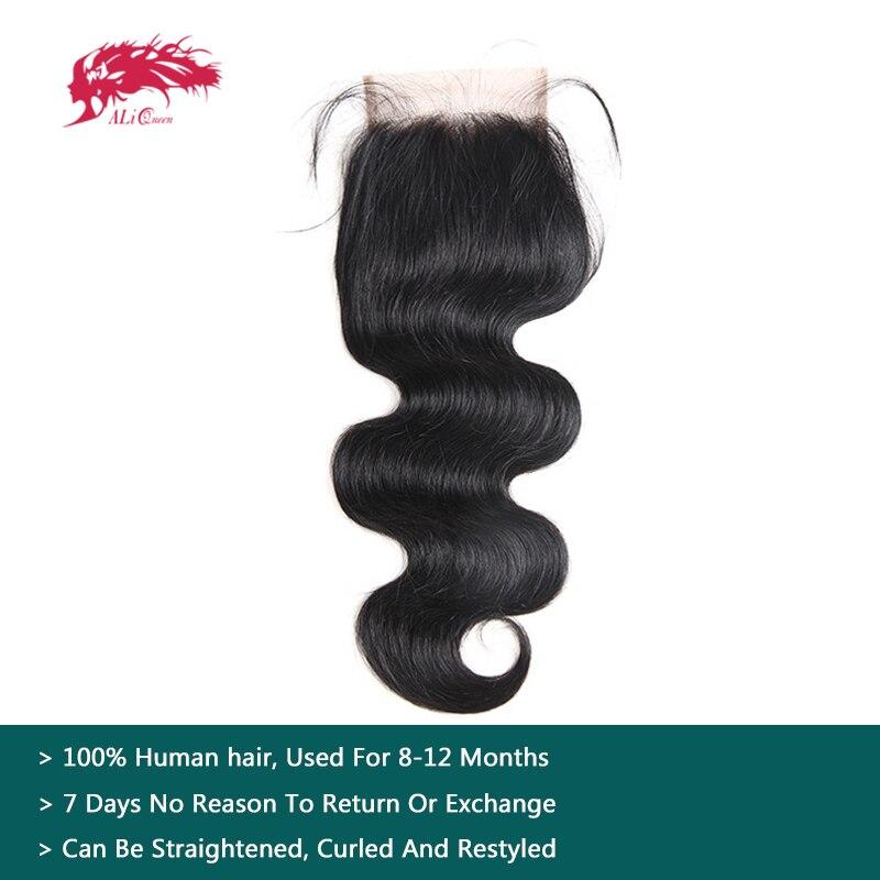 Объемная волна перуанский Девы волос Кружева Закрытие отбеленные узел бесплатная часть естественный Цвет 12 до 18 4x4 100% натуральные волосы з...