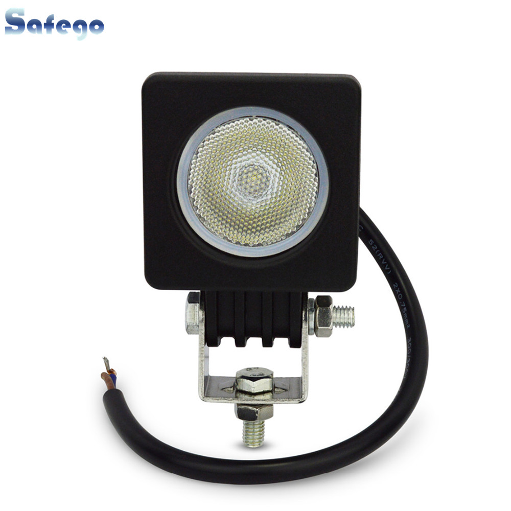 1 개 2 ''LED 10 와트 작업 램프 800LM 스팟 홍수 빔 작업 - 자동차 조명 - 사진 1