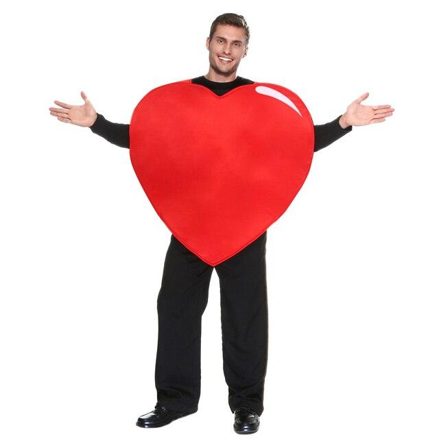 Сюрприз вашего меда на день святого валентина взрослых в форме сердца костюм мужчины забавный одежда наряд