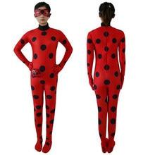 963a857c4 Niños mujeres niñas miraculous Ladybug Cosplay traje de gato negro lindo  Ladybug romper traje milagroso trajes