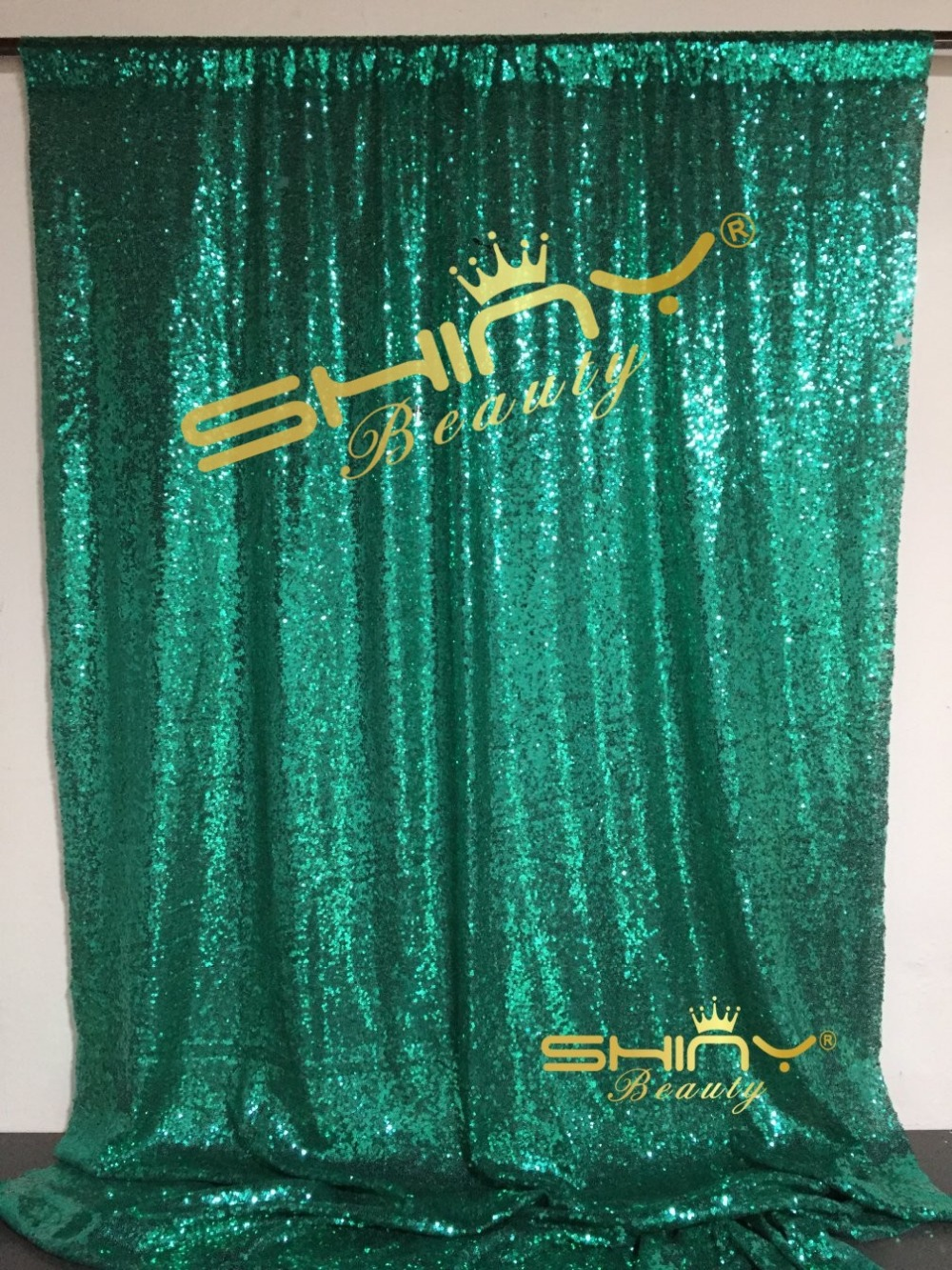 2018 Christmas Green 5FTX8FT Sequin Backdrop, Sequin Photo Curtain,Wedding Photo Booth,Photography Background-a