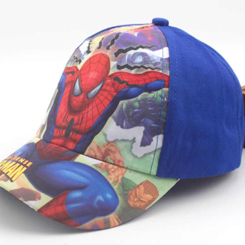 56ee56dcde6 ... Autumn Winter New Cartoon Anime Super Hero Spiderman Adjustable Baseball  Caps For Children Boy Hip Hop ...