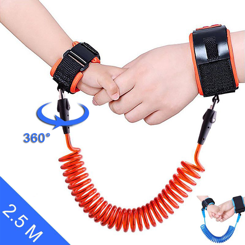 Anti Lost Wrist Link Wristband Baby Safety Strap Kids Toddler Belt Walking Rope PU Link Adjustable Harness Hand Ring Children